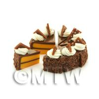 Miniature Whole Sliced Loose Chocolate Triangle Cake