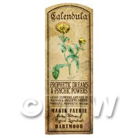 Dolls House Herbalist/Apothecary Calendula Herb Long Colour Label