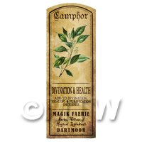 Dolls House Herbalist/Apothecary Camphor Herb Long Colour Label