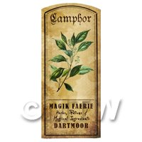 Dolls House Herbalist/Apothecary Camphor Herb Short Colour Label