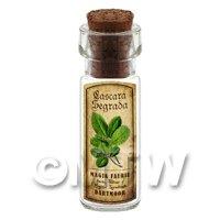 Dolls House Apothecary Cascara Segrada Herb Short Colour Label And Bottle