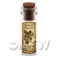 Dolls House Apothecary Cascara Segrada Herb Short Sepia Label And Bottle