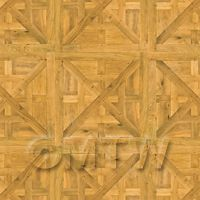 Dolls House Caserta Large Panel Parquet With Cross Frame Floor