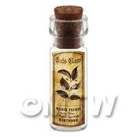 Dolls House Apothecary Cats Claw Herb Short Sepia Label And Bottle