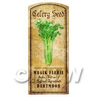 Dolls House Herbalist/Apothecary Celery Seed Herb Short Colour Label