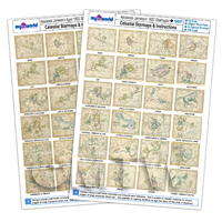 complete set of aged and non aged Jamieson Star Maps