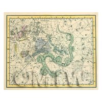 Dolls House Miniature Star Map With Ursa Minor 1800s