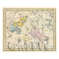 Dolls House Miniature 1800s Star Map With Andromeda And Perseus