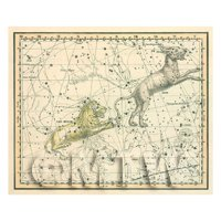 Dolls House Miniature 1800s Star Map With Leo Minor And Lynx