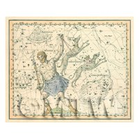 Dolls House Miniature 1800s Star Map With Bootes