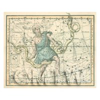 Dolls House Miniature 1800s Star Map With Serpens And Serpentaurus