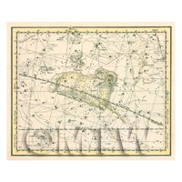 Dolls House Miniature 1800s Star Map With Aries
