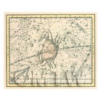 Dolls House Miniature 1800s Star Map With Cancer, Leo And Gemini