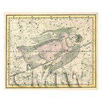 Dolls House Miniature 1800s Star Map With Virgo