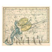 Dolls House Miniature 1800s Star Map With Scorpio And Libra