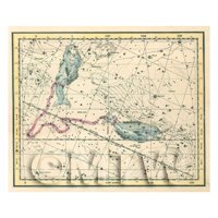 Dolls House Miniature 1800s Star Map With Pisces