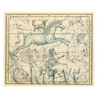 Dolls House Miniature 1800s Star Map With Canis Minor And Monoceros