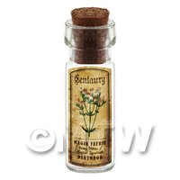 Dolls House Apothecary Centuary Herb Short Colour Label And Bottle