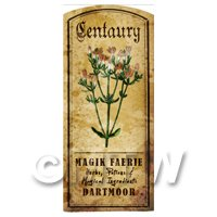 Dolls House Herbalist/Apothecary Centuary Herb Short Colour Label