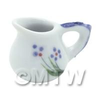 Dolls House Miniature Purple Simple Flower Design Ceramic Jug