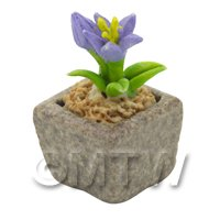 Miniature Handmade Violet Coloured Ceramic Flower (CFV16)