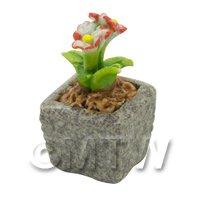 Miniature Handmade Dual Coloured Ceramic Flower (CFD03)
