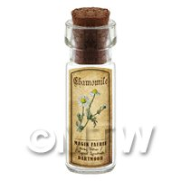 Dolls House Apothecary Chamomile Herb Short Colour Label And Bottle