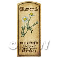 Dolls House Herbalist/Apothecary Chamomile Herb Short Colour Label