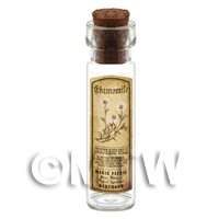Dolls House Apothecary Chamomile Herb Long Sepia Label And Bottle