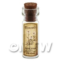 Dolls House Apothecary Chamomile Herb Short Sepia Label And Bottle