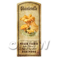 Dolls House Miniature Apothecary Chanterelle- Fungi Colour Label