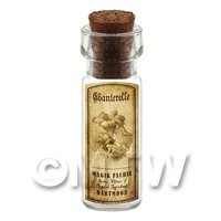 Dolls House Miniature Apothecary Chanterelle Fungi Bottle And Label