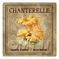 Dolls House Miniature Apothecary Chanterelle- Fungi Colour Box Label