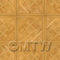Dolls House Chaumont Large Panel Parquet With Cross Frame Floor