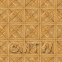 Dolls House Chaumont Small Panel Parquet Wood Effect Flooring