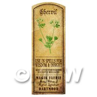 Dolls House Herbalist/Apothecary Chervil Herb Long Colour Label