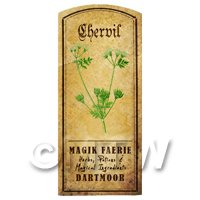 Dolls House Herbalist/Apothecary Chervil Herb Short Colour Label