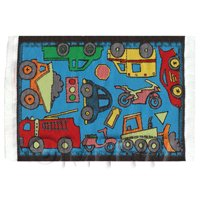 Dolls House Miniature Small Childrens Rug With Vehicles