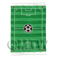 Dolls House Miniature Small Childrens Rug With Football Field