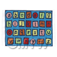 Dolls House Miniature Small Childrens Rug With Colourful Alphabet