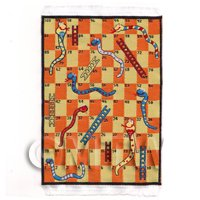 Dolls House Miniature Small Childrens Rug With Snakes And Ladders