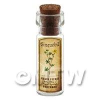 Dolls House Apothecary Cinquefoil Herb Short Colour Label And Bottle