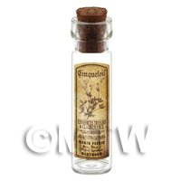 Dolls House Apothecary Cinquefoil Herb Long Sepia Label And Bottle