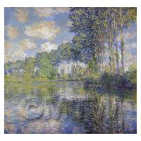 Claude Monet Painting  Poplars On The Epte