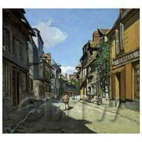 Claude Monet Painting Rue De La Bavolle Hornfleur