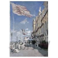 Claude Monet Painting Hotel Des Roches Noires, Trouville