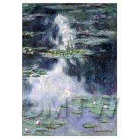 Claude Monet Painting Pond With Water Lilies