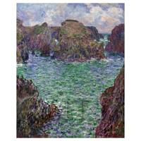Claude Monet Painting Belle-elle, Port Goulphar