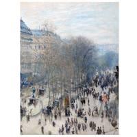 Claude Monet Painting Boulevard Des Capucines