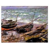 Claude Monet Painting Fishing Boats